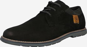 Pantofi cu șireturi 'Faustino' de la bugatti pe negru