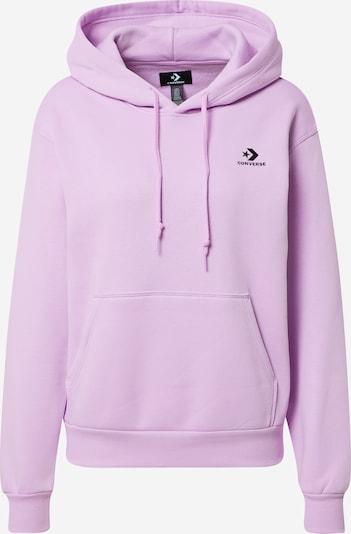 CONVERSE Sweatshirt in lila / schwarz, Produktansicht