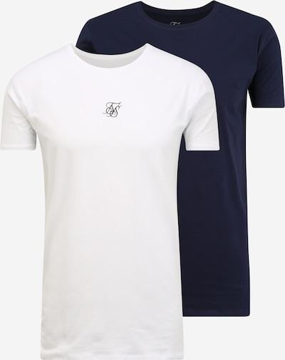 SikSilk T-shirt i marinblå / vit, Produktvy