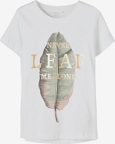 NAME IT Shirt 'Delfina' in gold / mint / weiß, Produktansicht