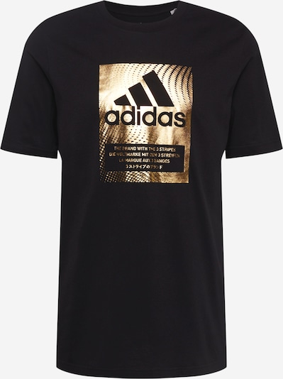 ADIDAS PERFORMANCE Функционална тениска в злато / черно: Изглед отпред