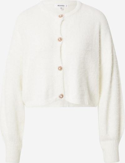 Missguided Strickjacke 'FLUFFY' in weiß, Produktansicht