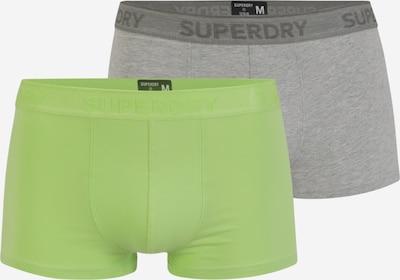 Superdry Boxershorts in de kleur Grijs / Lichtgroen, Productweergave