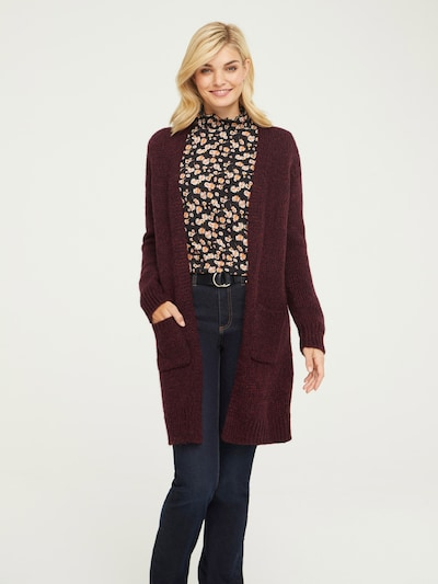 heine Strickjacke in bordeaux, Modelansicht