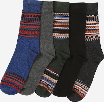 JACK & JONES Ponožky - modrý melír / tmavě šedá / šedý melír / tmavě zelená / černá, Produkt