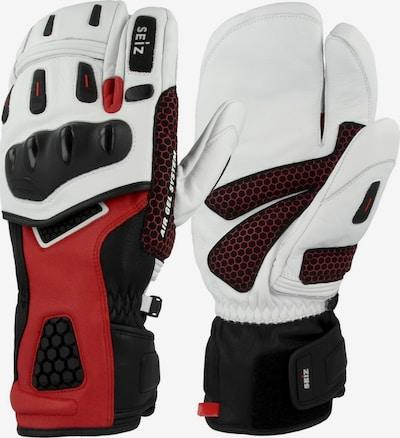 Seiz Gants de sport en rouge foncé / noir / blanc, Vue avec produit