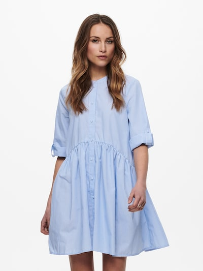 ONLY Košeľové šaty 'ONLCHICAGO' - svetlomodrá / biela, Model/-ka