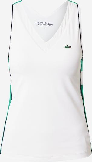 Lacoste Sport Top u zelena / bijela, Pregled proizvoda