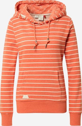 Ragwear Sweatshirt 'BERIT' in orangerot / weiß, Produktansicht