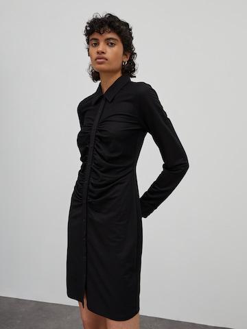 EDITED Shirt dress 'Amina' in Black