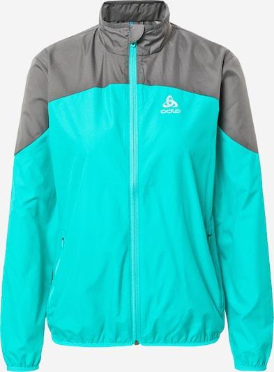 ODLO Αθλητικό μπουφάν σε γκρι / γαλαζοπράσινο, Άποψη προϊόντος