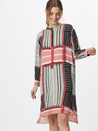 Masai Košilové šaty 'Nolena' - jasně červená / černá / bílá, Model/ka