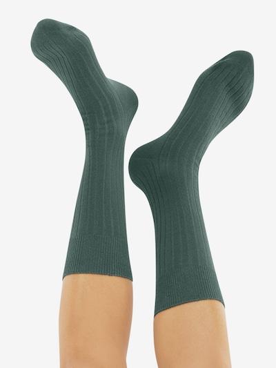 CHEERIO* Socken 'TOUGH GUY' in grün: Rückansicht