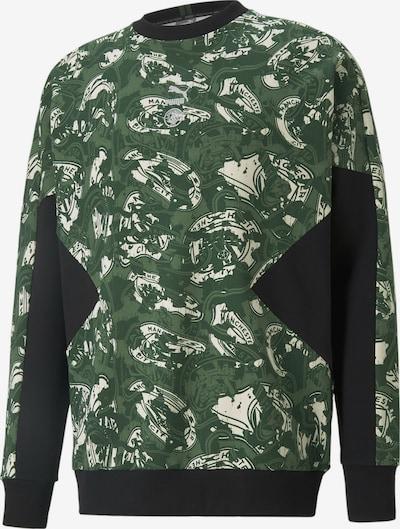 PUMA Sportsweatshirt in grün / schwarz / weiß, Produktansicht