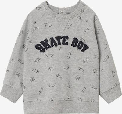 Bluză de molton MANGO KIDS pe gri / negru, Vizualizare produs