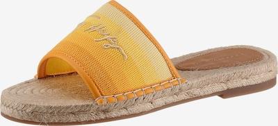 TOMMY HILFIGER Pantolette in beige / gelb / orange, Produktansicht