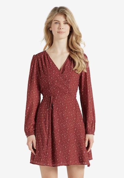 khujo Kleid 'MARGOLA' in karminrot, Modelansicht