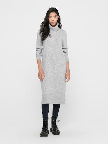 ONLY Gebreide jurk in Grijs