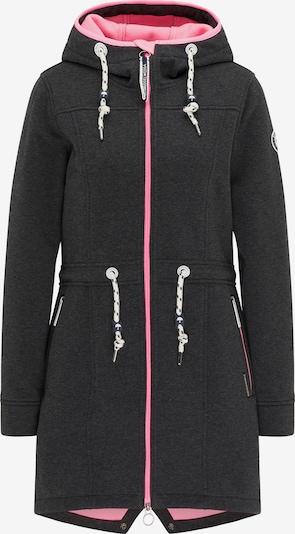 Schmuddelwedda Jacke in dunkelgrau / neonpink, Produktansicht