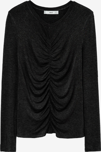 MANGO Shirt in schwarzmeliert, Produktansicht
