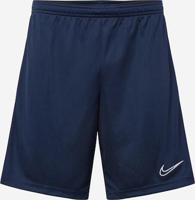 NIKE Športové nohavice 'Academy' - námornícka modrá / biela, Produkt