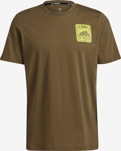 ADIDAS PERFORMANCE T-Shirt fonctionnel en jaune fluo / kaki, Vue avec produit