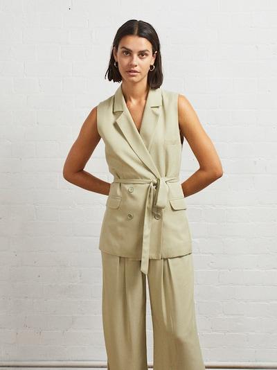 Aligne Gilet de costume 'Echo' en vert clair, Vue avec modèle