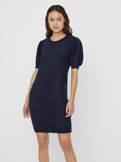 VERO MODA Kleid in dunkelblau, Modelansicht