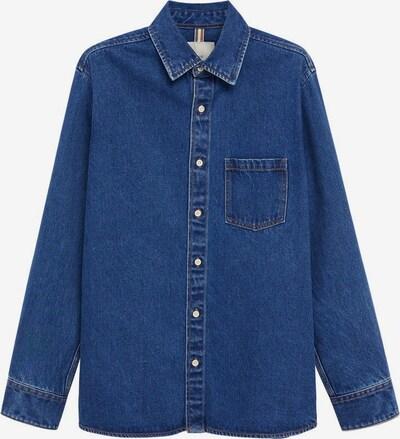 MANGO MAN Overhemd in de kleur Donkerblauw, Productweergave