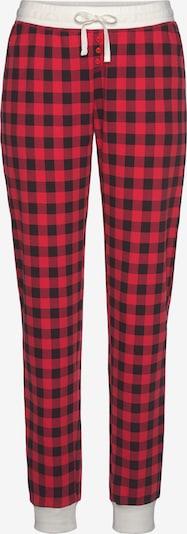 LASCANA Pyjamasbukser i rød / sort, Produktvisning