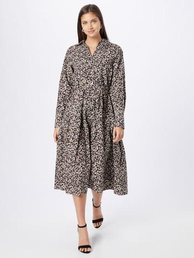 SELECTED FEMME Blusenkleid 'SOLVEIG' in beige / braun / lila / schwarz / weiß, Modelansicht