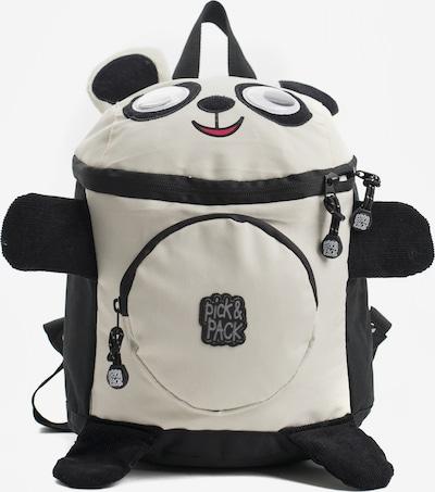 Pick & Pack Rucksack 'Panda' in schwarz / weiß, Produktansicht