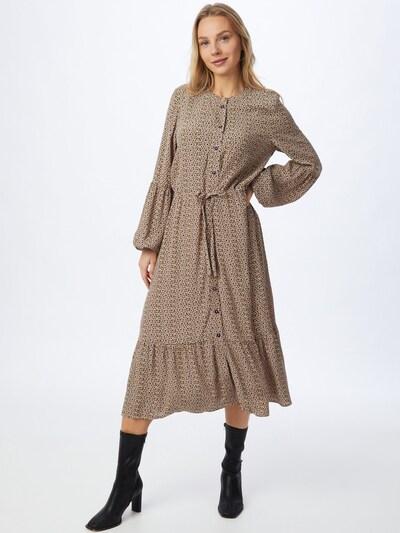 NÜMPH Kleid 'CECELIA' in beige / gelb / schwarz, Modelansicht