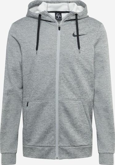 NIKE Sportsweatjacka 'Therma' i grå / svart, Produktvy