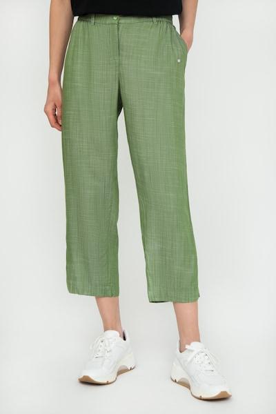 Finn Flare Caprihose in grün, Modelansicht