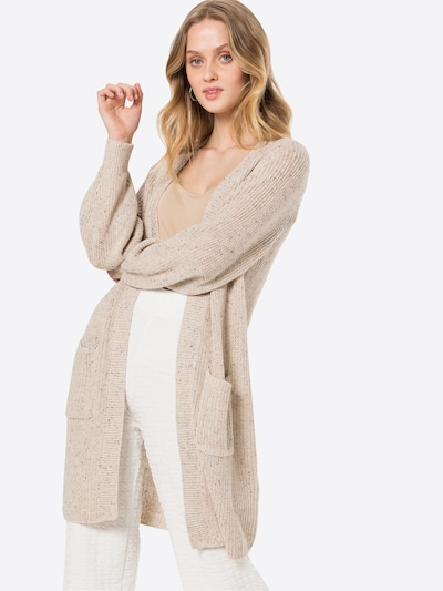 ONLY Strickjacke 'Diana' in beige / braun, Modelansicht