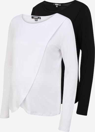 Tricou Missguided Maternity pe negru / alb, Vizualizare produs