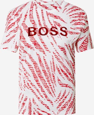 BOSS Casual T-shirt 'C_Elizera' en rouge / blanc, Vue avec produit