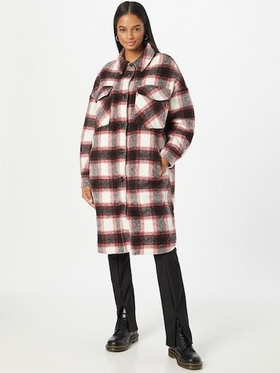VERO MODA Between-Seasons Coat 'FRIDAMARIE' in Dark brown / Red / Black / White, View model