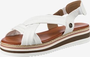 MUSTANG Sandale in Weiß