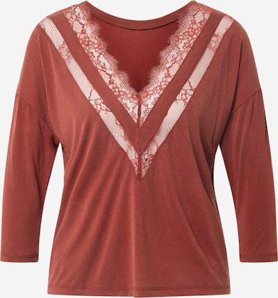 ONLY T-shirt 'FREE LIFE' en rouge rouille, Vue avec produit