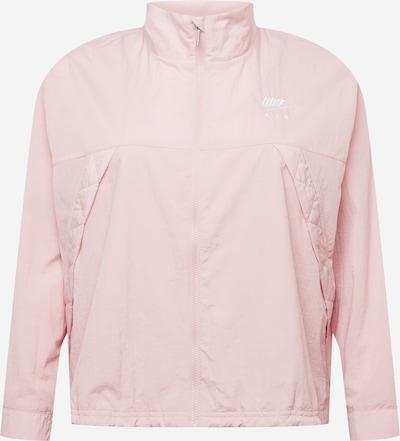 Geacă de primăvară-toamnă Nike Sportswear pe roz deschis / alb, Vizualizare produs