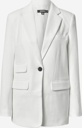 Missguided Blazer 'Boyfriend' en blanc, Vue avec produit