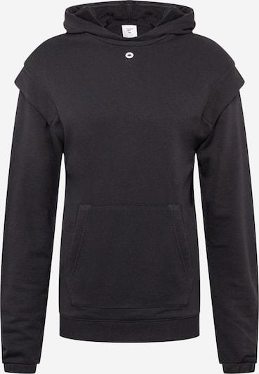 REEBOK Sportsweatshirt in hellgrau / schwarz / weiß, Produktansicht