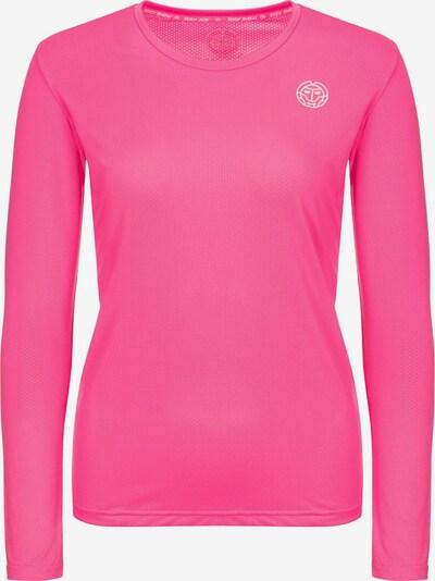 BIDI BADU Longsleeve Mina Tech mit dezentem Logo-Print in pink, Produktansicht