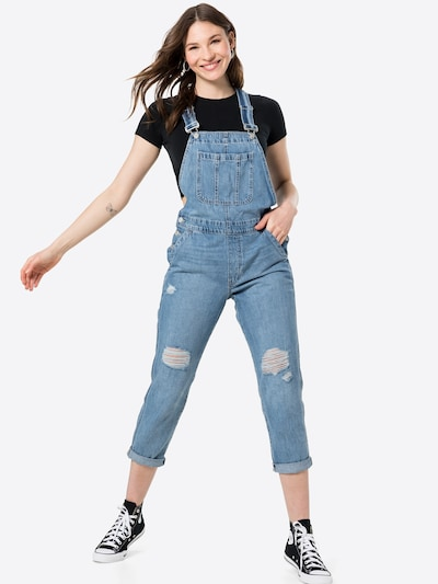 GAP Ogrodniczki jeansowe w kolorze niebieski denimm, Podgląd na modelu(-ce)