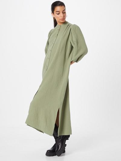 Rochie tip bluză 'Mirella' mbym pe verde deschis, Vizualizare model