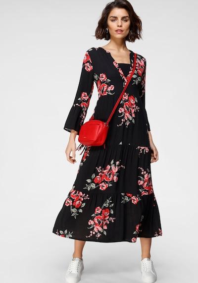 TAMARIS Kleid in grün / rosa / rot / schwarz, Modelansicht