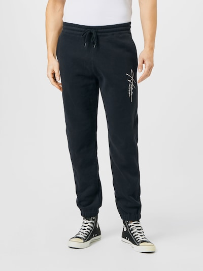 HOLLISTER Trousers in black / white, View model