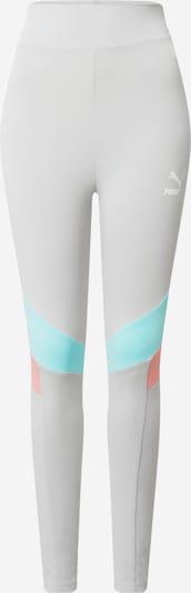 PUMA Pantalon de sport en turquoise / gris / corail, Vue avec produit